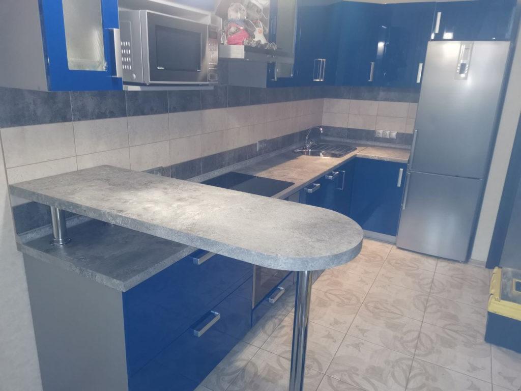 Барная стойка из столешницы для кухни